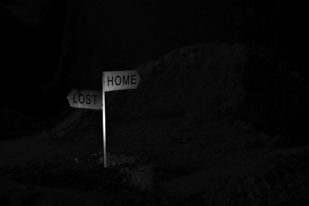 Signposts on road